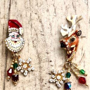 """""""Santa's Helper"""" Lunch At The Ritz earrings"""
